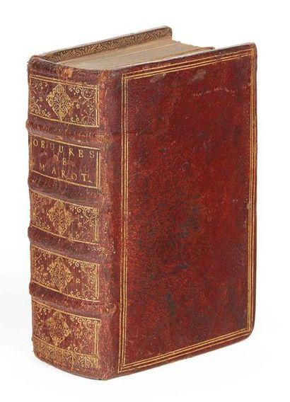 MAROT (Clément) Les Oeuvres de Clément Marot. Paris, Gaultier, 1548. Maroquin rouge...