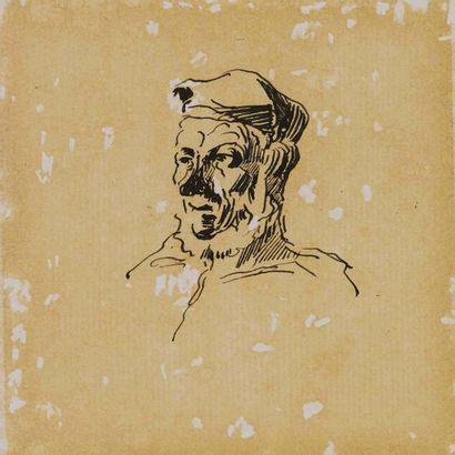 ATTRIBUÉE À HONORÉ DAUMIER (1810-1879)