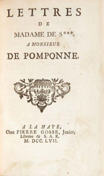 [SEVIGNÉ (Marie de Rabutin marquise de)] Lettres de Madame de S. a Monsieur de Pomponne....