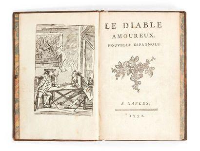 [CAZOTTE (Jacques)] Le Diable amoureux. Naples (Paris, Legay), 1772. In-8. Veau de...