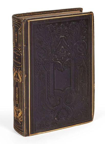 GOLDSMITH (Oliver) Le Vicaire de Wakefield. Bourgueleret, 1850. Veau violet romantique....
