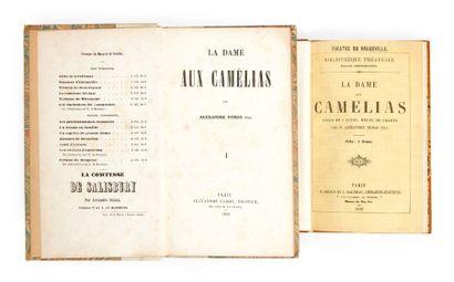 DUMAS FILS (Alexandre) La Dame aux Camélias. Giraud et Dagneau, 1852. Demi-maroquin...