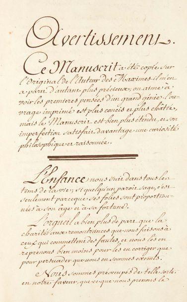 LA ROCHEFOUCAULD (François de)