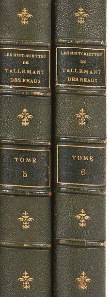 (SAINTE-BEUVE) TALLEMANT DES REAUX Les Historiettes. Techener, 1862. 6 volumes....