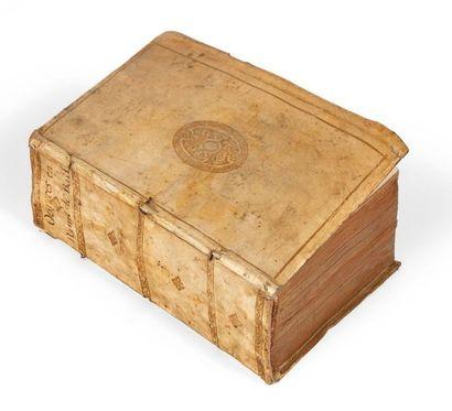 BAÏF (Jean-Antoine de) Oeuvres en rime. Lucas Breyer, 1572-1573. Vélin doré à recouvrement...