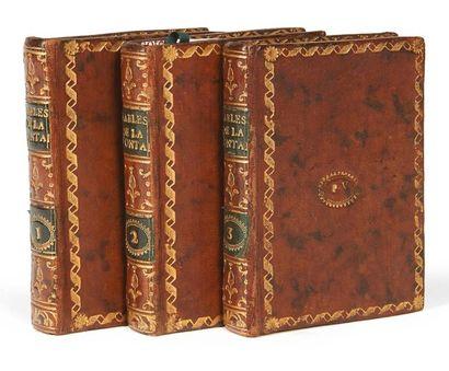 LA FONTAINE (Jean de) Fables. Fournier, 1801. 3 volumes in-16, veau de l'époque....