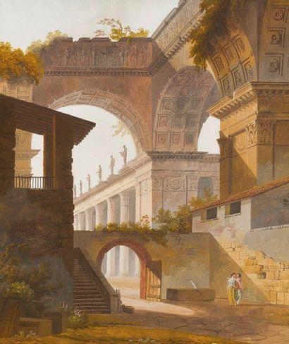 Attribué à Jacques Michel Denis LA FONTAINE (actif vers 1793-1833)