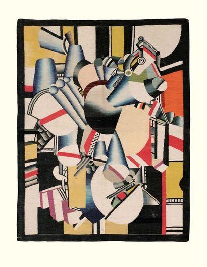 D'après Fernand LEGER Composition tapis 192 x 149 cm; 75? x 58? in. wool carpet 250-350...