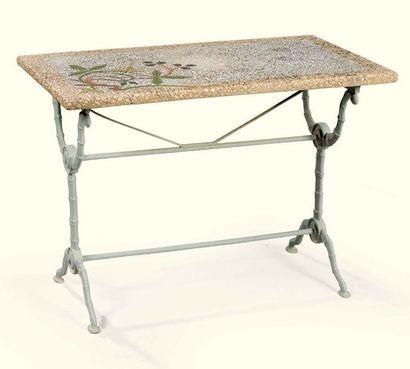 TABLE DE BISTROT RECTANGULAIRE EN MARBRES...
