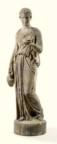 XXE SIÈCLE, D'APRÈS BERTEL THORVALDSEN (1770-1844) HÉBÉE