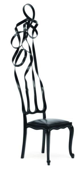 Living chair black - Pièce unique Chaise...