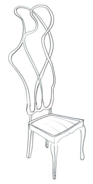 Living chair black - Pièce unique Chaise en chêne massif, fibre de carbone, corian,...