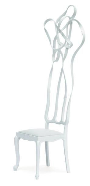 Living chair white - Pièce unique Chaise...
