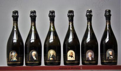 6 BOUTEILLES CHAMPAGNE GOSSET COFFRET Collection...