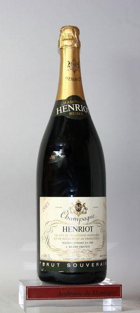 1 DOUBLE MAGNUM CHAMPAGNE HENRIOT - Brut...