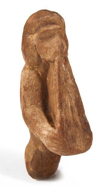 SINGE FLÛTISTE. Égypte, Nouvel Empire. Figurine...