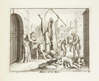 [GILLOT (Claude) - LA MOTTE (Antoine de)] Les Cent une figures pour les Fables de...
