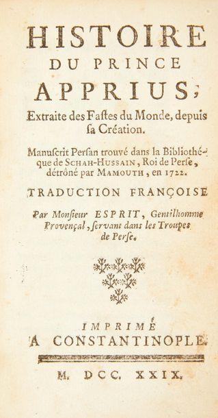 [BEAUCHAMP (Pierre-François Godard de)] . Histoire du prince Apprius, Extraite des...