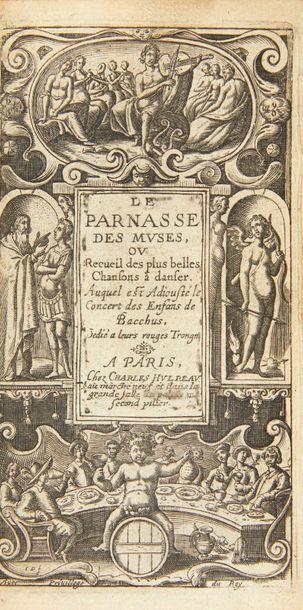 HULPEAU (Charles) Le Parnasse des muses, ou Recueil des plus belles Chansons à danser,...
