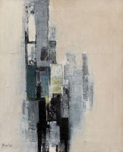 Maurice Boel (1913-1998) Composition abstraite, 1965 Huile sur toile. Signée et datée...