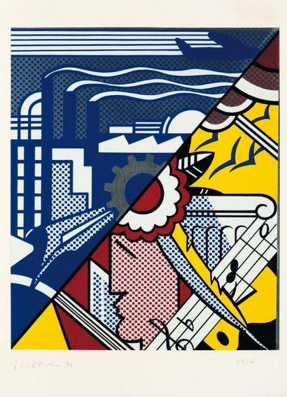 ROY LICHTENSTEIN (1923-1997) Industry and thearts II, 1969 Sérigraphie sur aluminium....