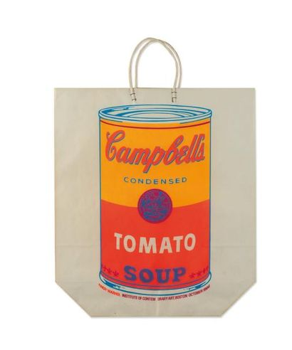 ANDY WARHOL (1928-1987) Campbell's soup canon shopping bag, 1966 Sérigraphie sur...
