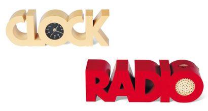 RADIO REVEIL « Radio Clock » en plastique....