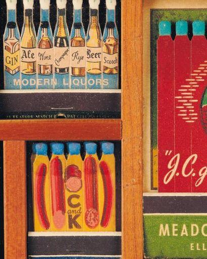 BOITES ALLUMETTES Ensemble de 30 cadres comprenant des pochettes d'allumettes serigraphiées...