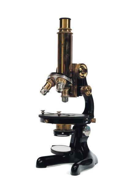 Microscope Dans son emballage en bois.