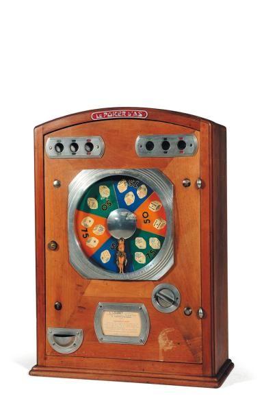 Le poker d'as de la machine Bois H_63 cm...