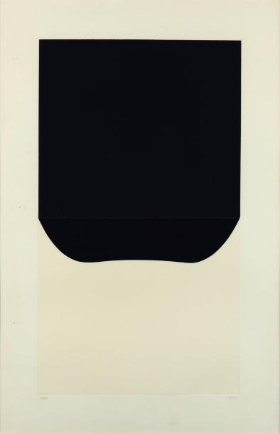 ALBERTO BURRI (1915-1995) Bianchi e neri II, 1969 Eau forte et collage. Signée et...