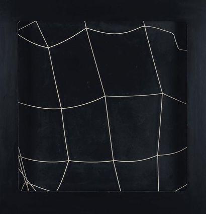 GIANNI COLOMBO (1937-1993) Spazio elastico-superficie, 1972-1974 Elastique et bois...