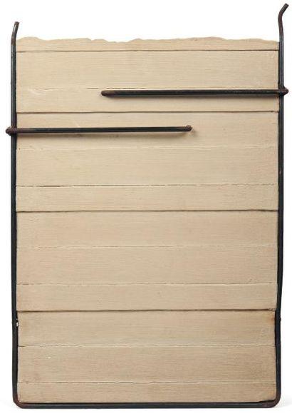 GIUSEPPE UNCINI (NÉ EN 1929) Sans titre, 2001 Multiple en bois, acier et ciment....