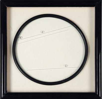 GRAZIA VARISCO (NÉE EN 1937) 3+3, 1965-1992 Billes, batonnets et cercle en plastique...