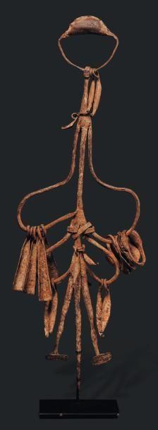 Mumuye, Nigéria - Fer. Très caractéristique de la sculpture Mumuye, traits minimalistes...