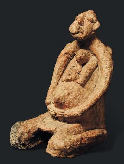 Statue Djenne, Mali - Terre cuite. Dans une...