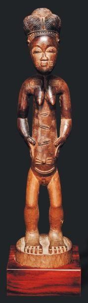 Statue Baoule, Côte d'Ivoire - Bois. Le personnage...