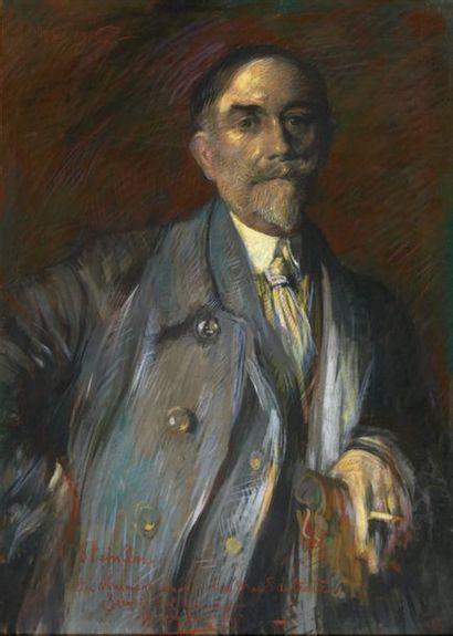 Henry de GROUX (1866-1930) Théophile-Alexandre STEINLEN Pastel, daté en haut à gauche,...