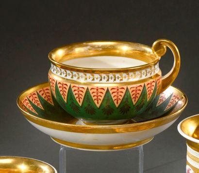PARIS (manufacture NAST)  Tasse à thé et...