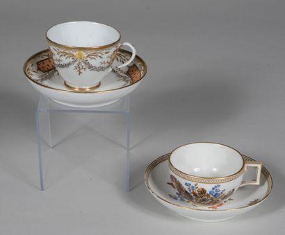 MEISSEN  Tasse à thé et sa soucoupe en porcelaine...