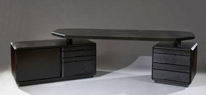 Pierre CHAPO (1927-1987) Modèle B40 en frêne...