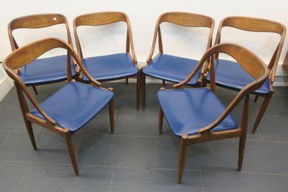 Johannes ANDERSEN. Suite de six chaises en...