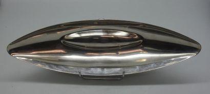 Lino SABATTINI (Né en 1925). Coupe à fruit pour Christofle en métal argenté. Collection...