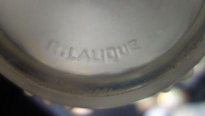 """René LALIQUE (1860-1945) Paire de flacon n°1 de la garniture de toilette """" Perles..."""
