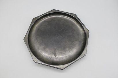 BONIFAS ? Coupe octogonale noire en céramique...