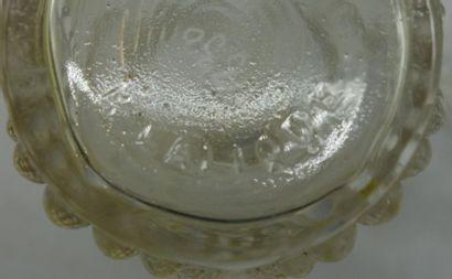 """René LALIQUE (1860-1945) Paire de flacons """" Palerme """" (1926). Épreuves en verre..."""