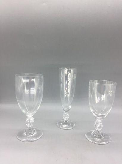 CRISTAL LALIQUE. Service de verres