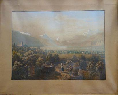 Ecole suisse du XIXe siècle Vues de Vevey...