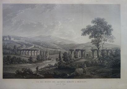 Benedikt PIRINGER (1780-1826) Vue des vestiges...