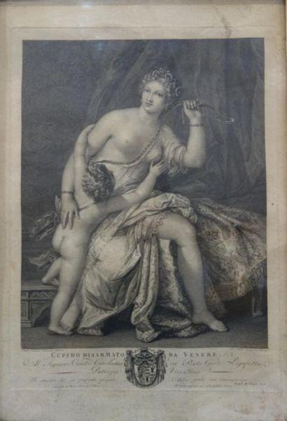 D'après VERONESE Cupidon désarmant Vénus....